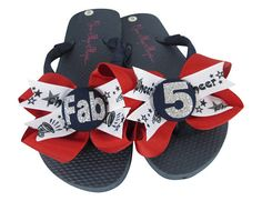 b5fd6e9df5b7 Bling Cheer Bow Flip Flops Personalized with Team School Name Ribbon Flip  Flop Sandals with Glitter