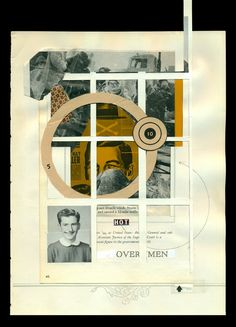 Untitled (over men) analog collage, 2013 cory peeke