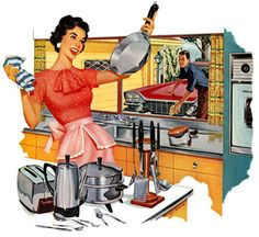 This is defintely going in my '1950's Happy & Perfect Vintage Housewife' Kitchen