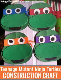 Teenage Mutant Ninja Turtles Craft. Cowabunga with your little TMNT fan and make these fun foam turtles.