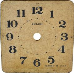 Knick of Time: Antique Graphics Wednesday - Antique Clock Faces & Hymns Old Clocks, Antique Clocks, Printable Labels, Printable Paper, Free Printables, Altered Books, Altered Art, Vintage Ephemera, Vintage Paper