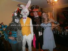 Homemade Alice in Wonderland Group Costume: Each year we try to make our costumes even better than the last. We wanted something edgy that would test the boundaries of our creative minds. After scouring