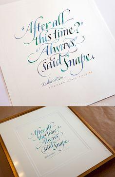 calligraphy / J Stevens
