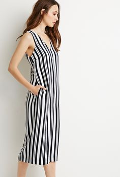 86f5712d7145 Contemporary Mixed Stripe Culottes Jumpsuit on ShopperBoard