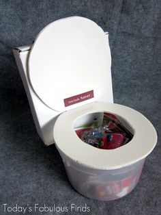 box funny valentine ideas and how to makethem   Flushing Toilet (Valentine Box)