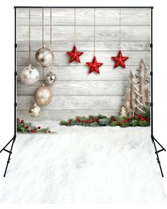 2016 New Sale Christmas Gifts Photography Backdrops Newborn Baby Chrismas Photo Background For Celebration XT-4338