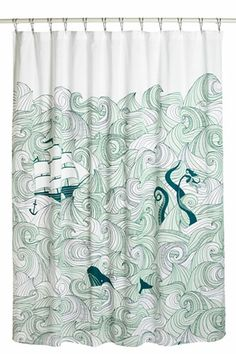 Modcloth Swell Acquainted Shower Curtain, $54.99, available at Modcloth.