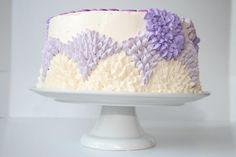 Purple Flower Cake - Cake by Rachel Skvaril