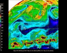 #UHManoa #Hawaii #Meteorology #Weather #Temp 81F #RH 62% #Winds NE 14mph #MostlySunny #Vog #HNL