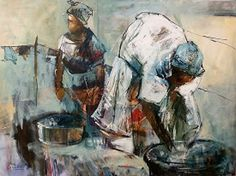 The online portfolio of Julia Forman, a professional fine artist working in oils, acrylics and inks from her studio in Durban, South Africa. She produces a wide variety of works and is well known for her abstracted african figures and contemporary flowers Love Painting, Painting & Drawing, South African Art, Painting Competition, Inspirational Artwork, Online Painting, Artist At Work, Figurative Art, Art Photography