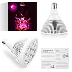Soaiy® LED Plant Grow Light Lamp - 3 Bands Color Ration 660/470/630nm - Used in Indoor Gardening,Greenhouse to Boost Vegetables,Flowers and Herbs growth Flowering and Fruiting during Vegetative Stage and Blooming Stage - Unique FIT type Radiator, Lightweight - Professional Optical Lens Enhance PAR - E27 12W Soaiy http://www.amazon.com/dp/B00QEXEAJE/ref=cm_sw_r_pi_dp_nCs3ub10KK7SD