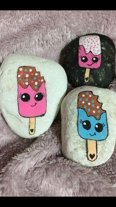 Popsicles rock art painted rocks