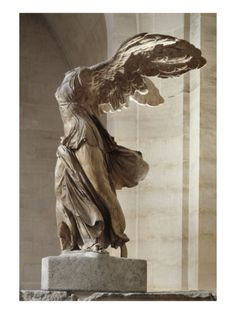 Winged Victory ~ Nike of Samothrace ~ Greek statue ~ century BC ~ Musée du Louvre ~ Paris. I saw this in the staircase at the Louvre, and now have a replica on my desk. Where art started. Sculpture Stand, Roman Sculpture, Art Sculpture, Metal Sculptures, Abstract Sculpture, Bronze Sculpture, Sculpture Romaine, Winged Victory Of Samothrace, Art Et Architecture