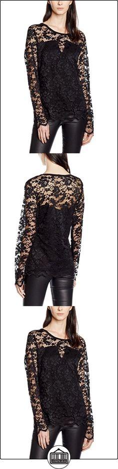Freequent Lace-LS-PREAU16, Blusa para Mujer, Schwarz (Black w. Black Lining 1000), X-Large  ✿ Blusas y camisas ✿