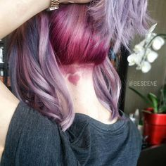 undercut heart  pink hair