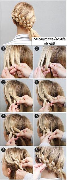 tuto coiffure facile à réaliser