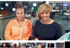 Hanging out with Mary Mary as they visit the My FOX LA studios, hosted by @Shaka Armstrong