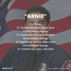 """""""Arnie"""" WOD - For Time: 21 Turkish Get-Ups, Right Arm"""