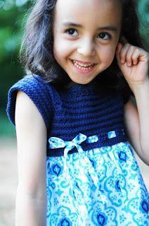 Tutorial: Kindergarten Dress with a crochet bodice and cute fabric skirt.