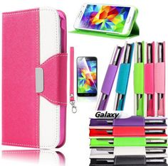 Galaxy S6, S6 Edge, S5 - Chic Wallet Wristlet Clutch With Card Slots  in Assorted Colors