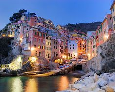 Riomaggiore, Mediterranean coast of northern Italy