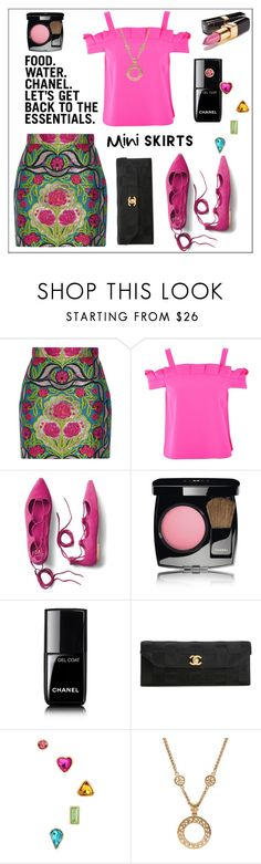 """""""Food. Water. Chanel. The Essentials."""" by pat912 ❤ liked on Polyvore featuring Gucci, Topshop, Gap, Chanel, Betsey Johnson and polyvoreeditorial"""