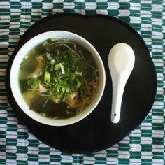 Tofu Wakame Soup - A simple, comforting soup of tofu, seaweed, and mushrooms.