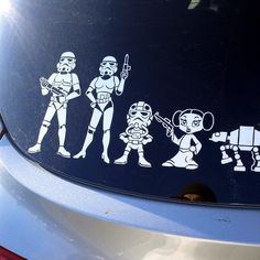 Star Wars car window stickers - These are cool.  I must find them. I would be the coolest mom ever!!