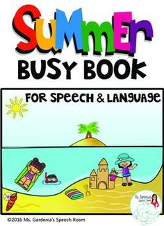 Target MANY different aspects of speech and language with this Busy Book from Ms. Gardenia's Speech Room