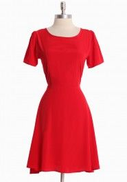 classy and simple--red goes with it all
