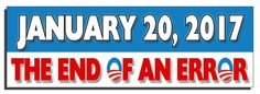 January 20, 2017 The end of an error - Anti Obama