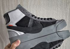 Off-White X Nike Blazer Studio Mid Grey