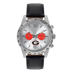 Game Time Georgia Bulldogs Ncaa Letterman Men's Watch