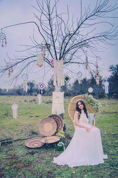 ·Apache Bride· STYLED SHOOT  Dress Yolan Cris Stylism | @dorothysblog More Than Events,  Photography | Natalia Ibarra  Make up and hair |  Nieves Timor Shoes and Coats | Zahir Madrid Headdresses | @cucullia, @Mimoki,  Location | Finca el Campillo  #WeddingDecor | More Than Events  Wooden features | Wood and light  Tipi | Tipi Land Factory #WeddingFlorals | @floresenelcolum #Crockery | @azarraluqui  #Weddingcakes | @thesweetestlab   #weddinginspiration #weddingideas #dreamcatcher
