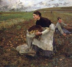 Jules Bastien-Lepage, Saison d'octobre, récolte des pommes de terre, 1879.