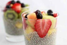Chia (Pouding) à la Vanille et aux Fruits | Recettes délicieuses pour tous les jours, qui suivent le régime hypotoxique, sans gluten et produits laitiers.