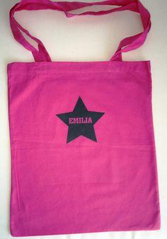 Stofftasche mit Stern und Name