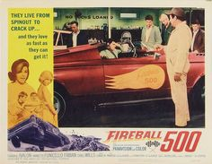 """Lobby Card for the AIP film """"Fireball 500"""" (1966), starring Annette Funicello and Frankie Avalon"""