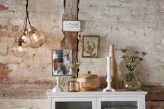 Hübsch plafondlamp glas rond motief - Verlichting, 45 euro per lamp