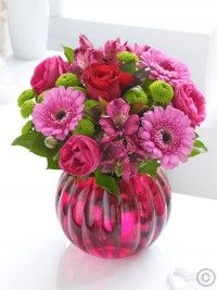 Valentines Mixed Globe * Make your Valentines day by choosing this vibrant arrangement it looks fantastic with its contrasting shades of hot pink and lime green – and the sumptuous red rose makes a delightful centrepiece to draw the eye. Valentines Flowers, Valentines Day, Dublin, Anniversary Flowers, Flowers Delivered, Flower Designs, Red Roses, Venus
