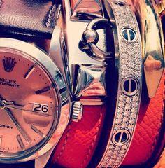 Rolex, Cartier and Hermes