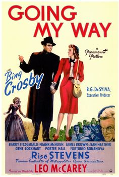 """Movies in my DVD Collection #862 - Going My Way (1944)  """"When the St. Louis Browns lost Bing, the Cardinal got a good singer!"""" Oscar Winners"""