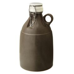 STONEWARE GROWLER   beer growler, custom, brewery   UncommonGoods $65. It's expensive, but might be nice gift.