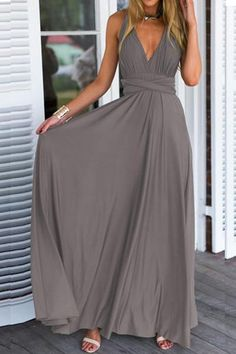 Glamorous Versatile Crossover Prom Dress