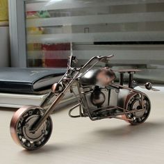 Screw and Nut Craft Modern Metal Motorcycle Model Decoration