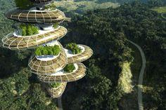 Futuristic eco house