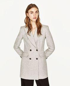 Light Grey Double Breasted Jacket by Zara   $129.00