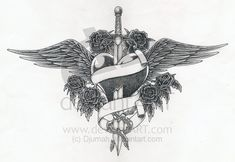 Sword Tattoos for Men | tattoo heart by Djumah on deviantART
