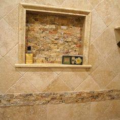 Bathroom Ideas Travertine my bathroom renovation! travertine tile and custom, frameless