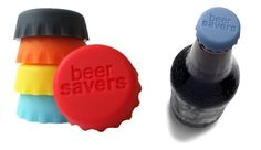 Beer Savers. Silicone bottle caps that hold in carbonation for up to 24 hours.